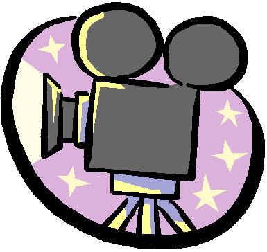 Movie screening clipart.