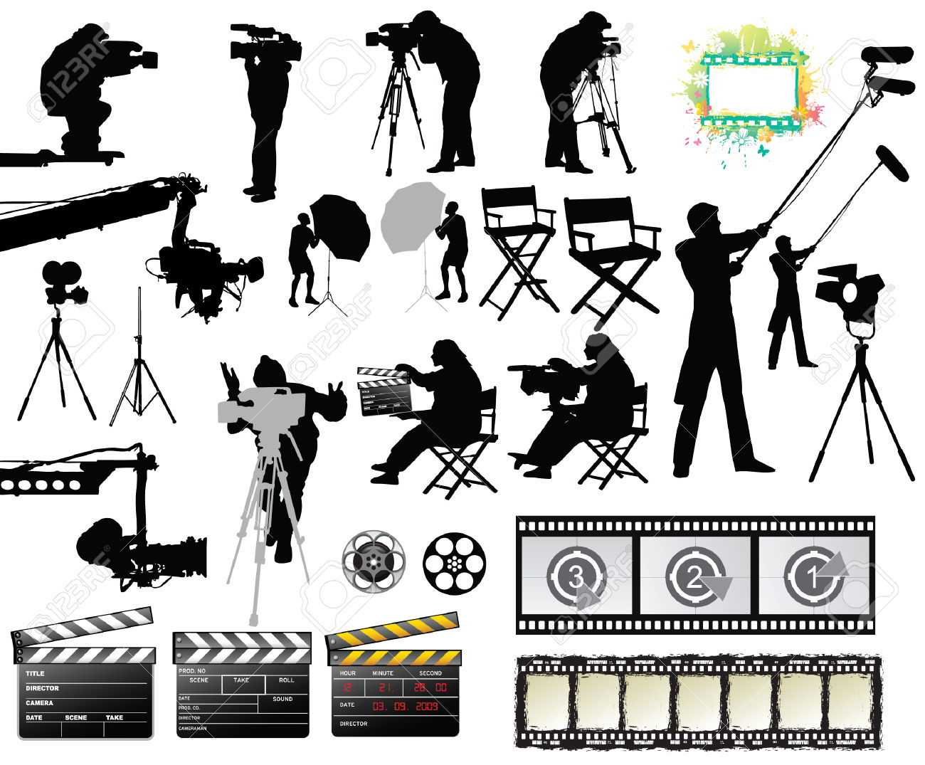 Film Set Royalty Free Cliparts, Vectors, And Stock Illustration.
