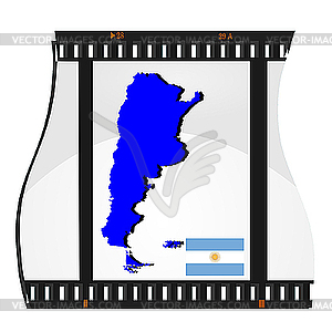 Film shots with national map of Argentina.