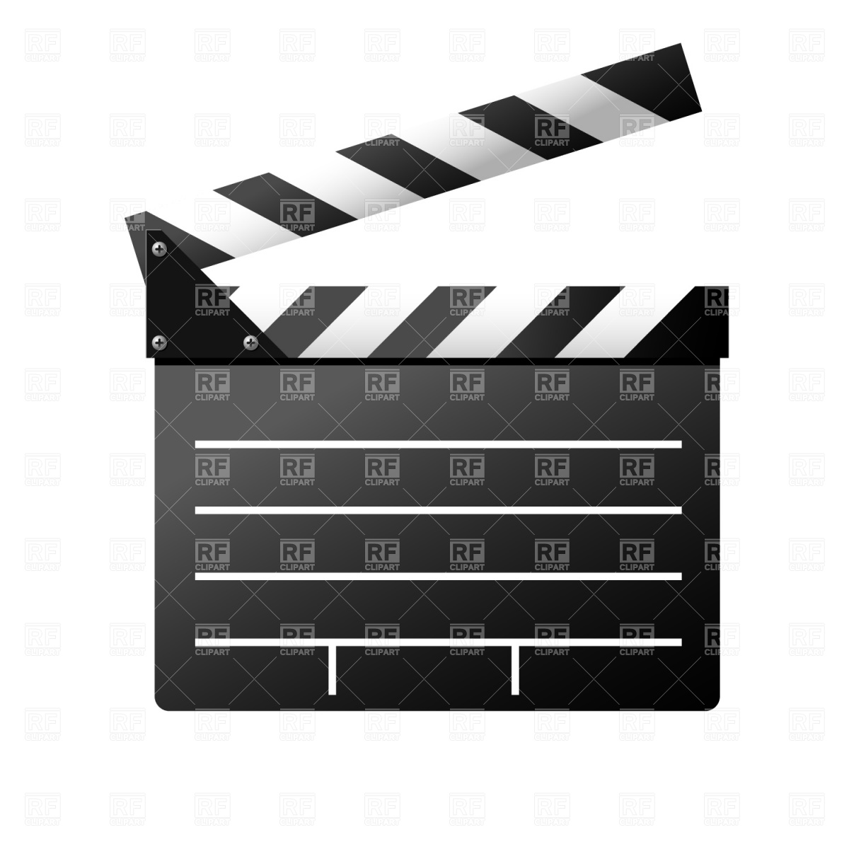 Film Slate Stock Vector Image.