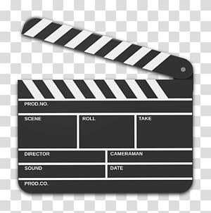 Clapperboard Film Video Cinema, slate transparent background.
