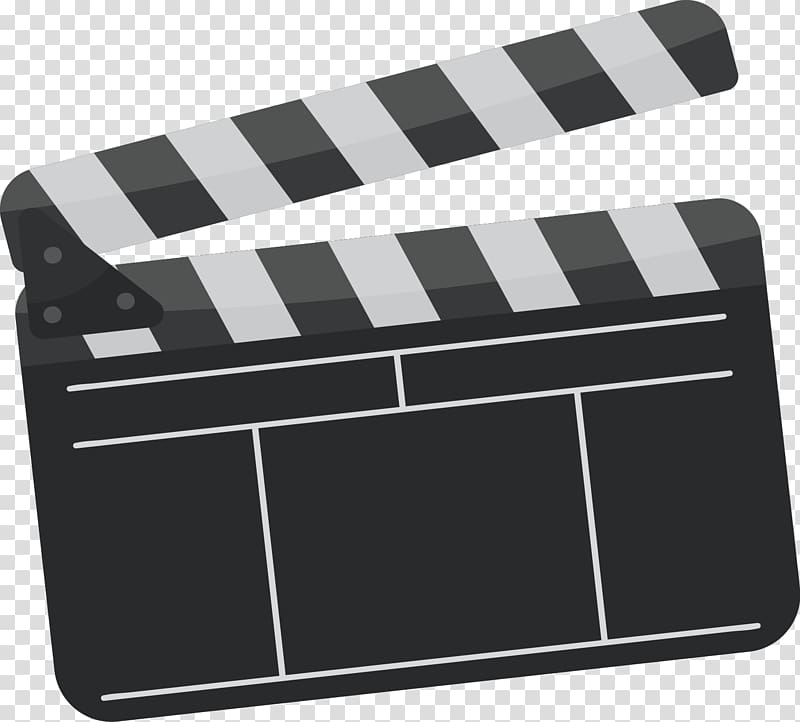 Clapping board illustration, Clapperboard Film.