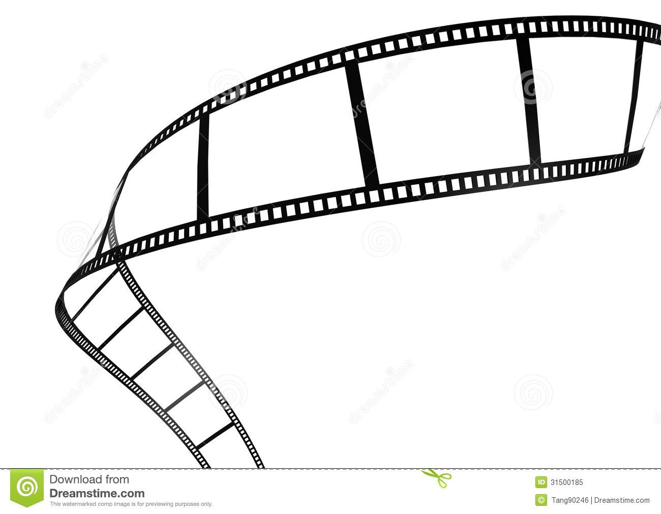 Film Strip Template Border Movie Theater Frame Stock.