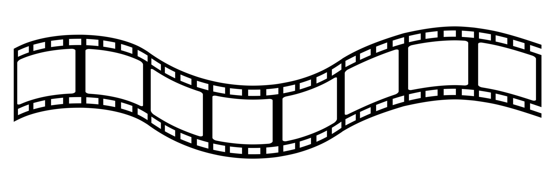 Vector film strip clipart.