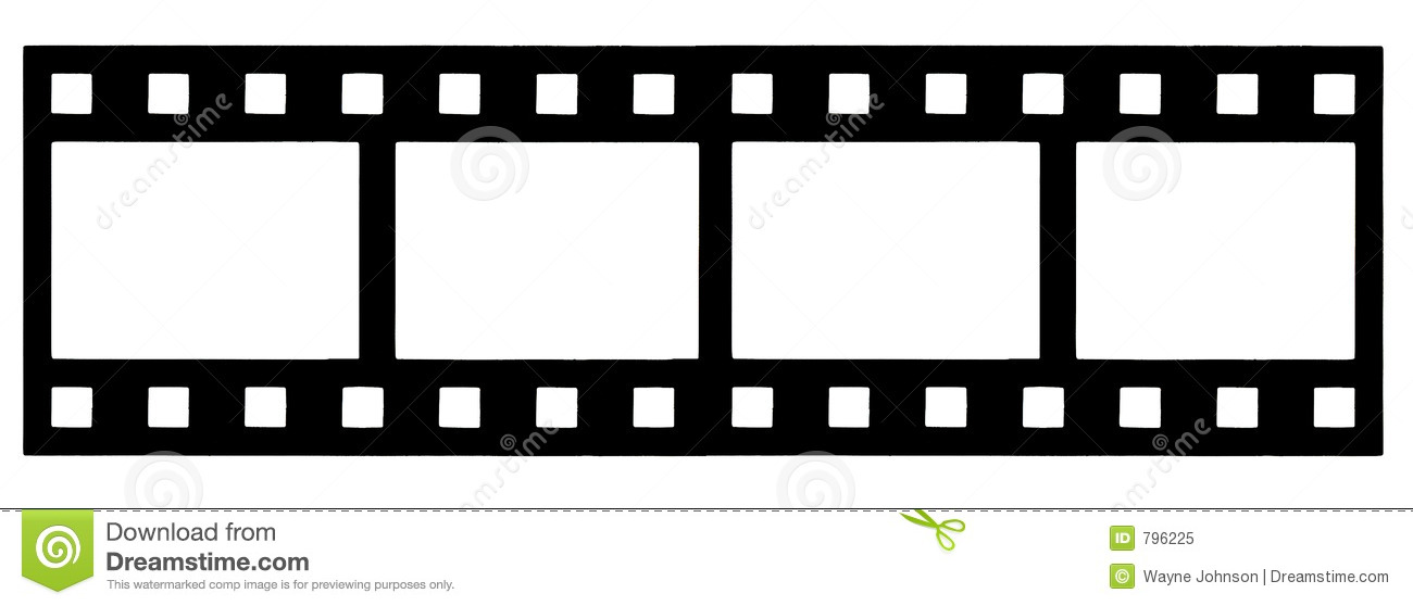 Film strip clipart frame.