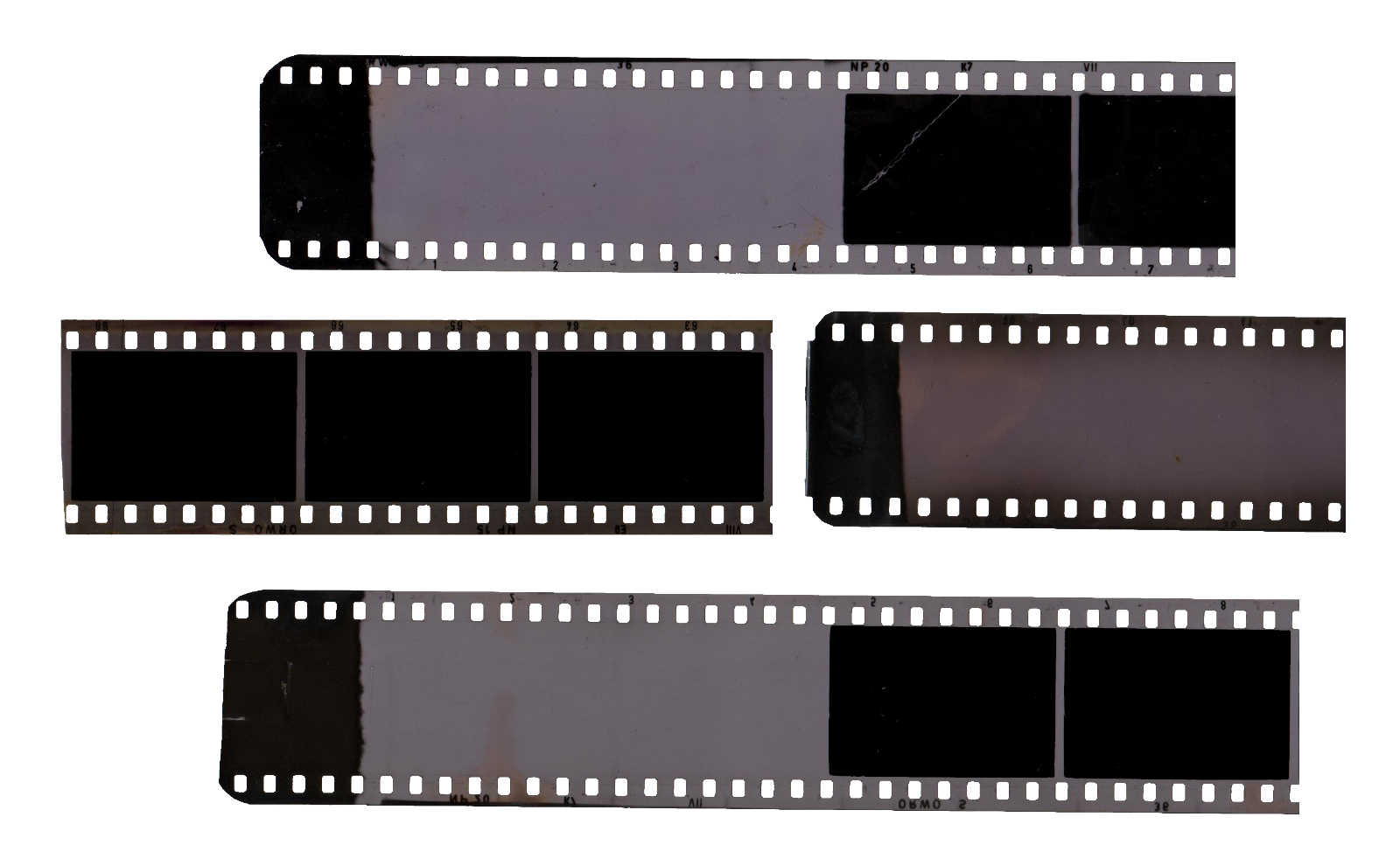 4 Vintage Filmstrip (PNG Transparent).
