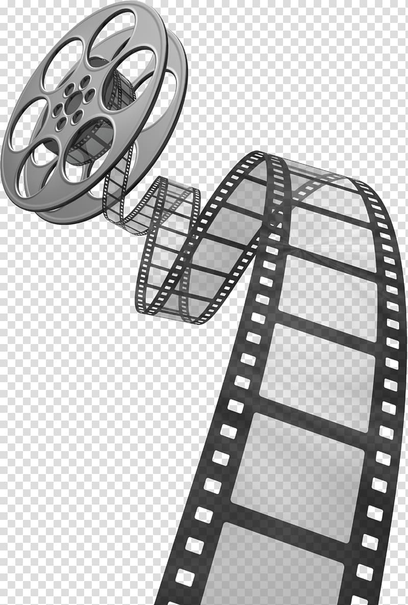 Graphic film Reel , Movie Film, silver and black film strip.