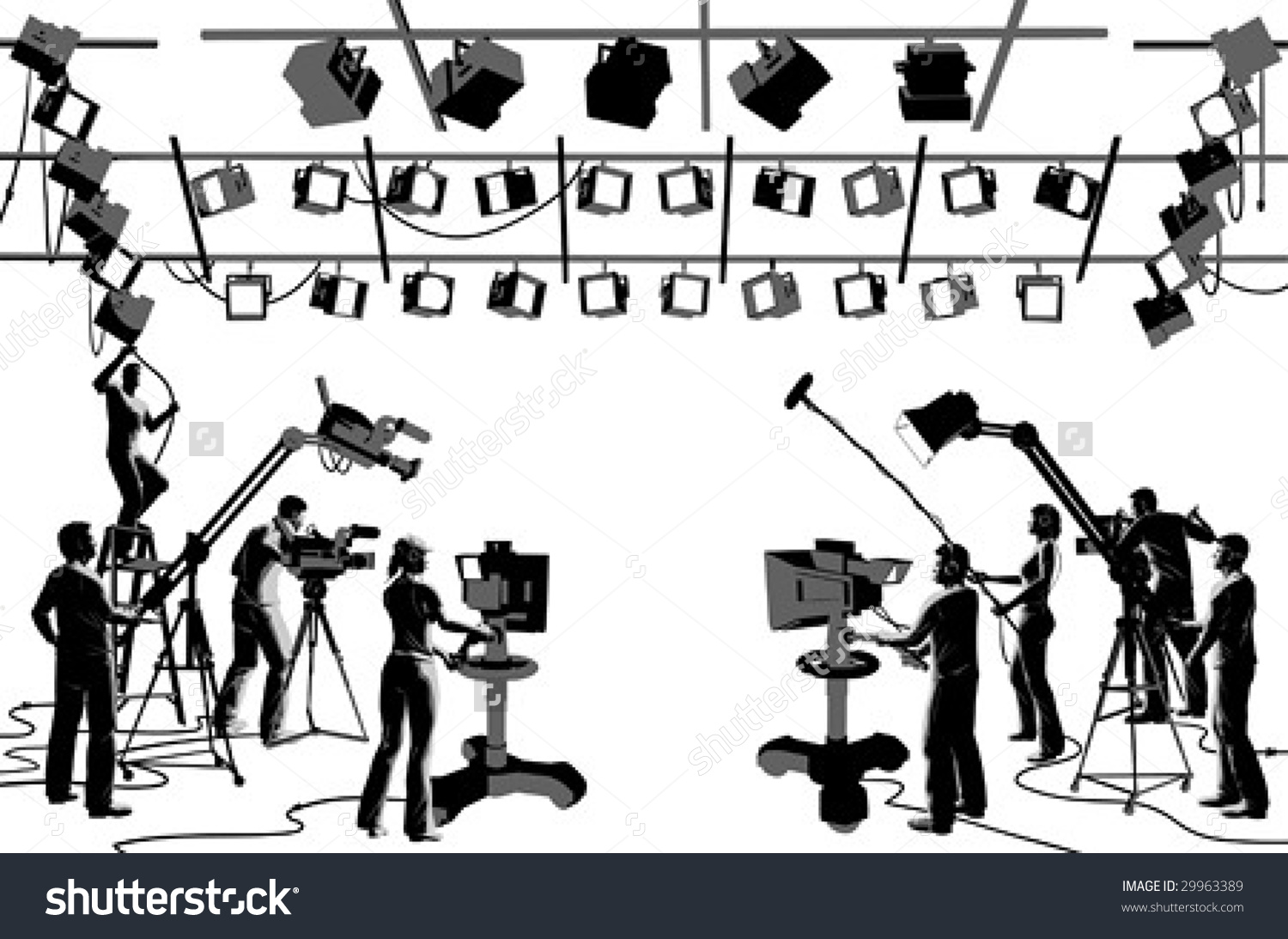 Vector Clip Art Set Tv Channel Stock Vector 29963389.