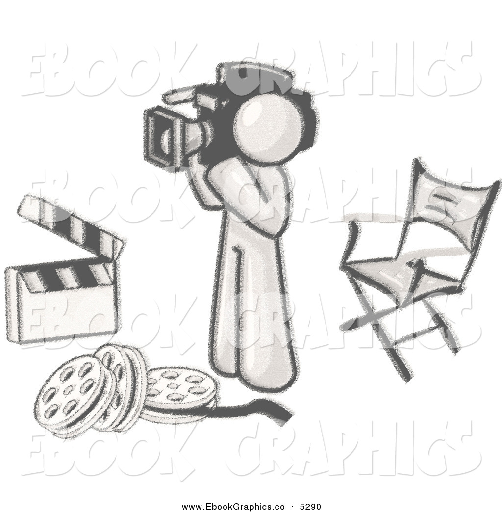 Studio Movie Camera Clipart.
