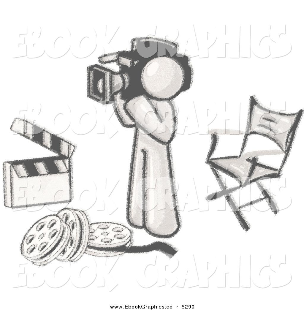 Studio Movie Camera Clipart.