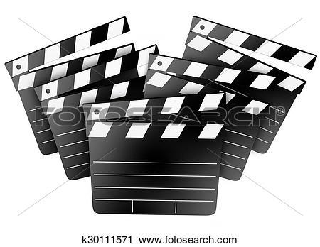 Stock Photography of Movie Film Studio Clapper Boards Cinema.