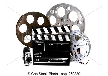Vintage film camera clipart.