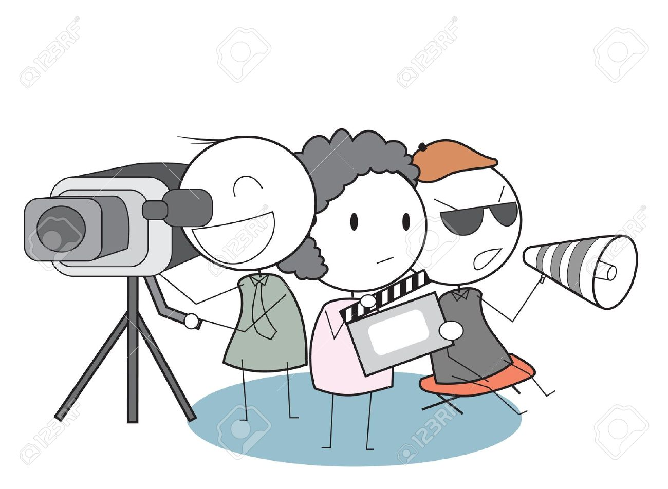Movie Team Royalty Free Cliparts, Vectors, And Stock Illustration.