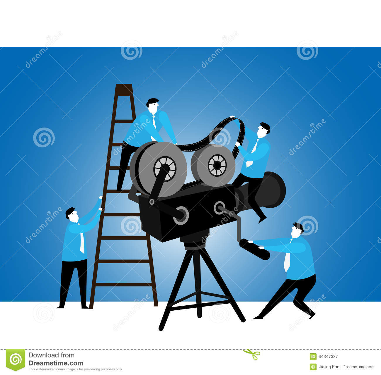 Teamwork : Projection Team Stock Illustration.
