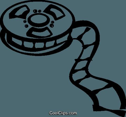 filme sobre um rolo de filme livre de direitos Vetores Clip Art.