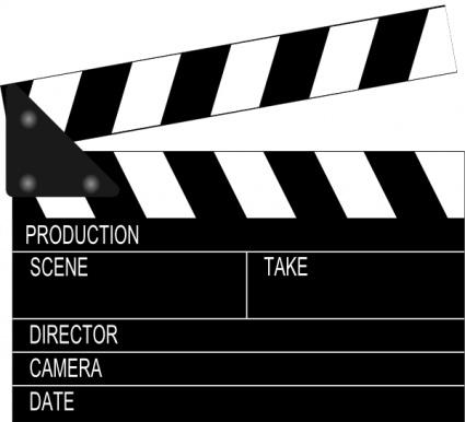 Movie Clapper Board clip art clip arts, free clipart.