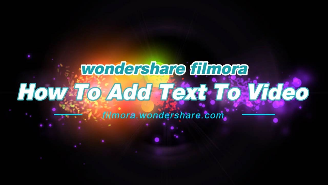 How to add text and titles to video (advanced tutorial) with Filmora.