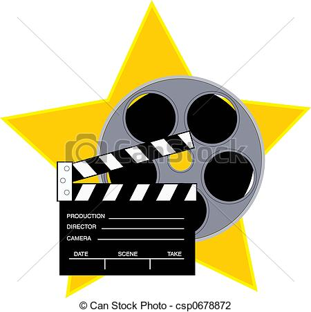 Clipart film star.