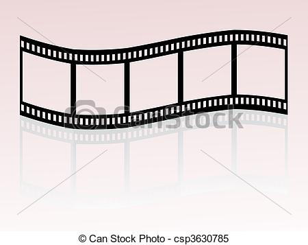 Clipart Vector of film stripe.