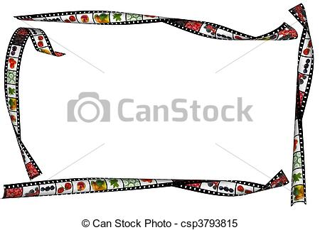 Stock Illustrations of healthy food concept, wavy film stripe with.