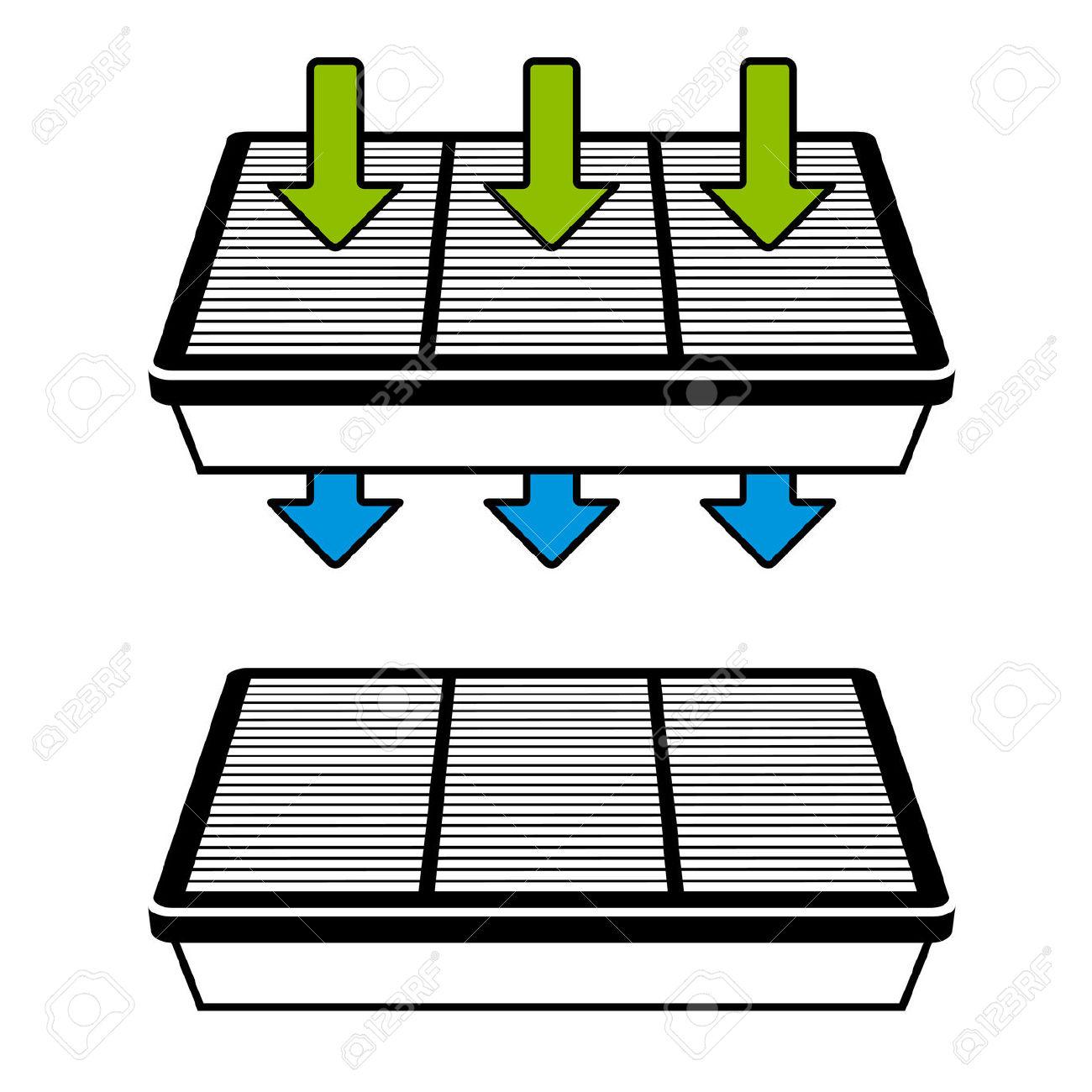 Vector Air Filter Flow Symbols Royalty Free Cliparts, Vectors, And.