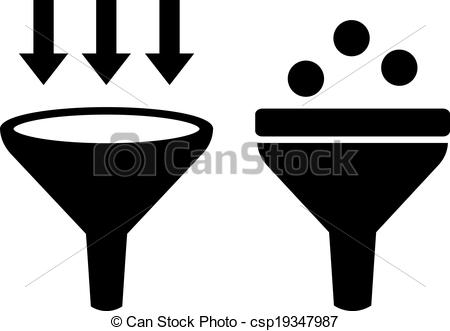 EPS Vector of Filter funnel symbol on white background csp28616543.