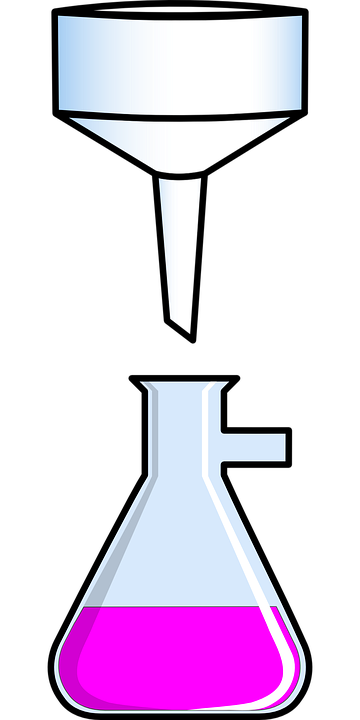 Free vector graphic: Flask, Funnel, Bengal, Research.