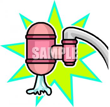 Filtering water clipart.