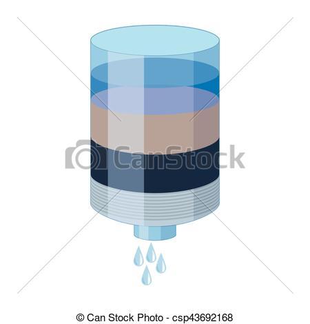 El icono de los cartuchos de agua en estilo de dibujos.