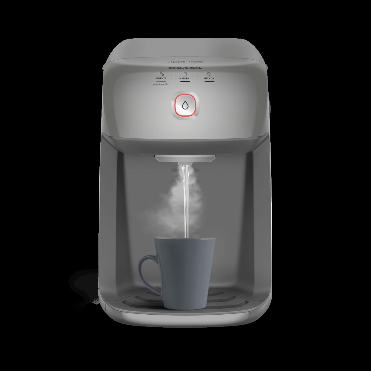 Purificador de Água Electrolux Cinza com Refrigeração por Compressor e Água  Quente (PH41X).