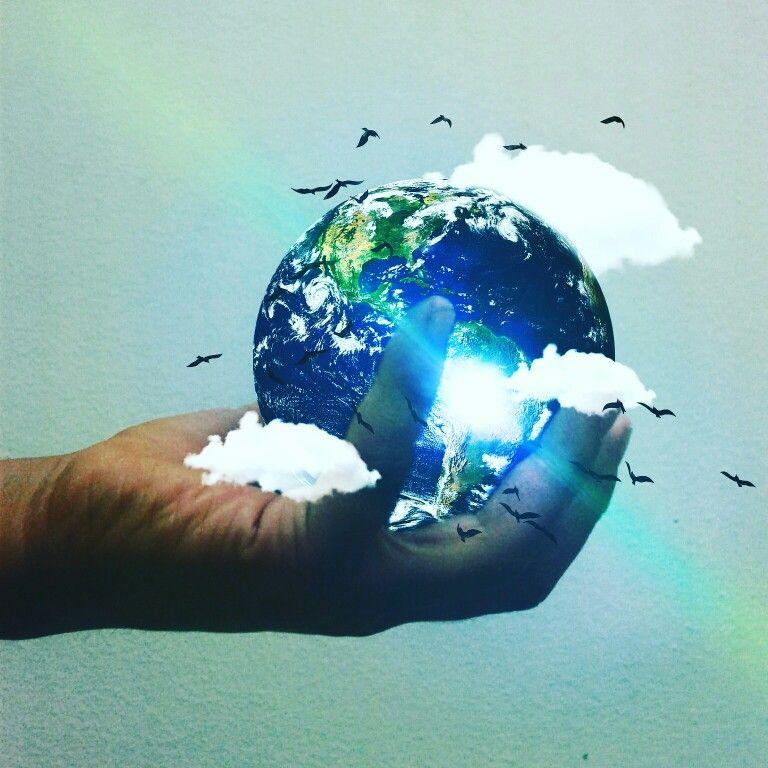 El mundo esta en tus manos #photoshop #canon #retoque.