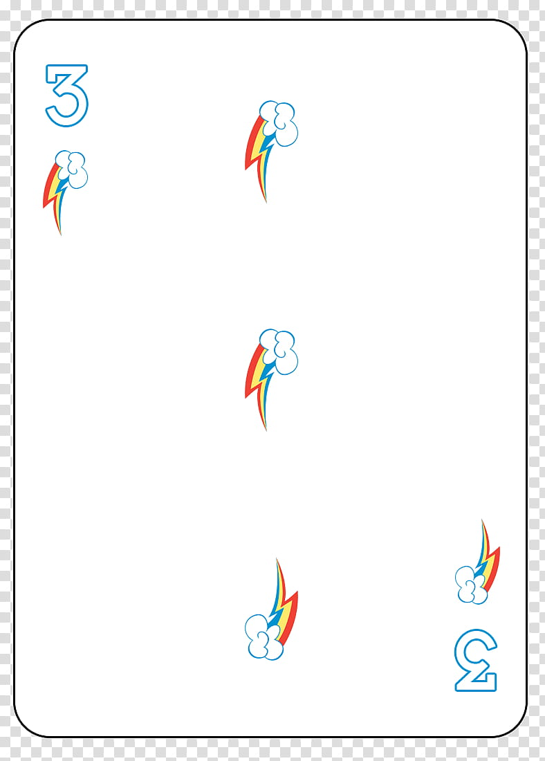 MLP FiM Playing Card Deck, white cloud with rainbow.