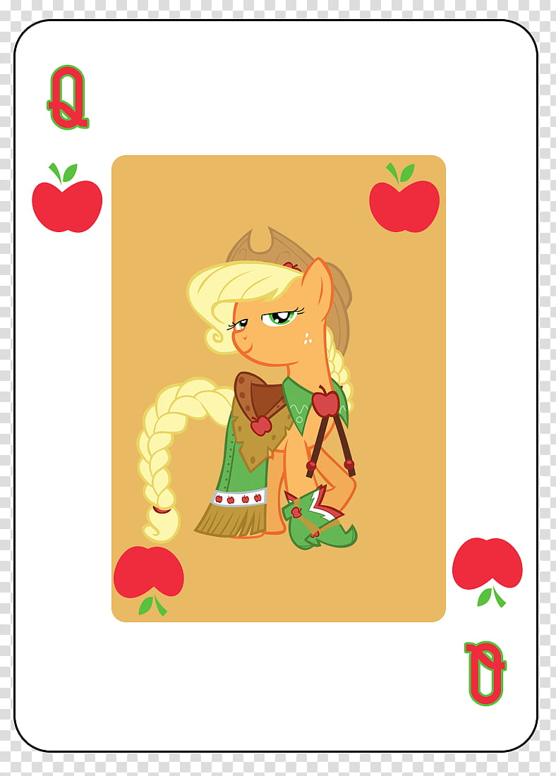 MLP FiM Playing Card Deck, queen playing card illustration.