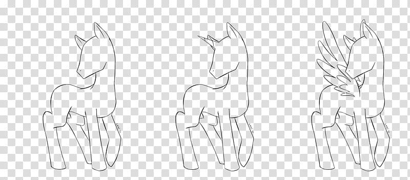 MLP FiM Male Pony Base, unicorn illustration transparent.