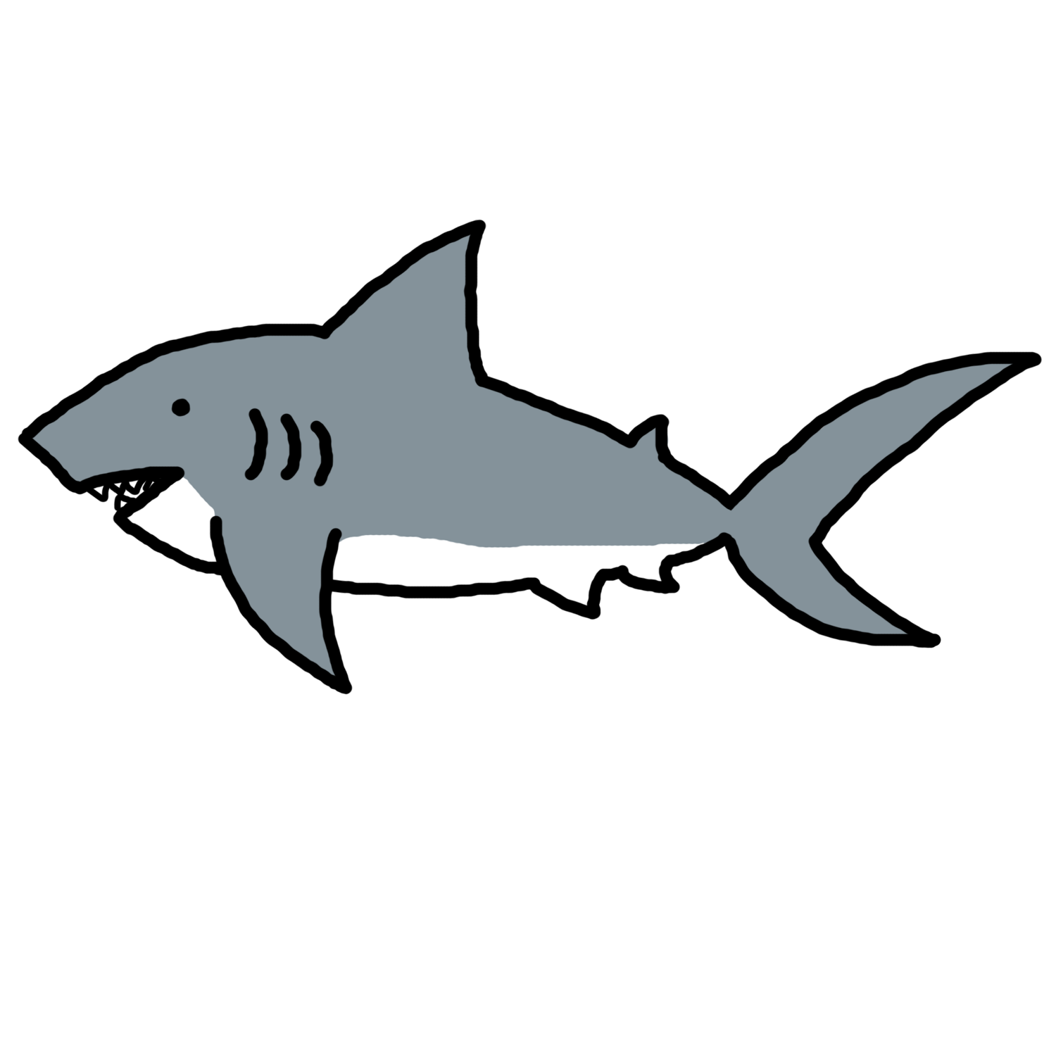 Shark Fin Outline Clipart.