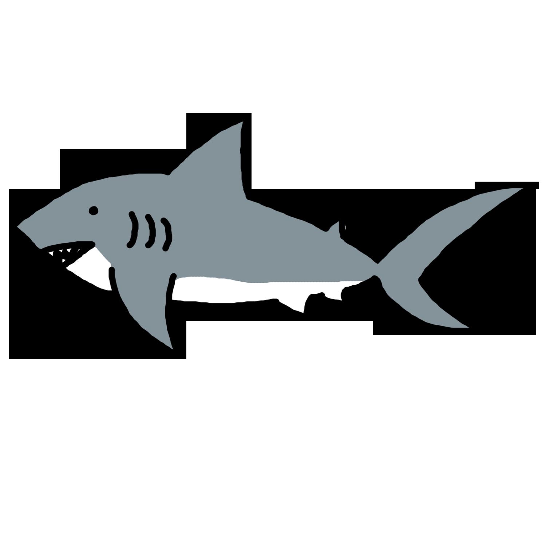 Shark Fin Outline Clipart.