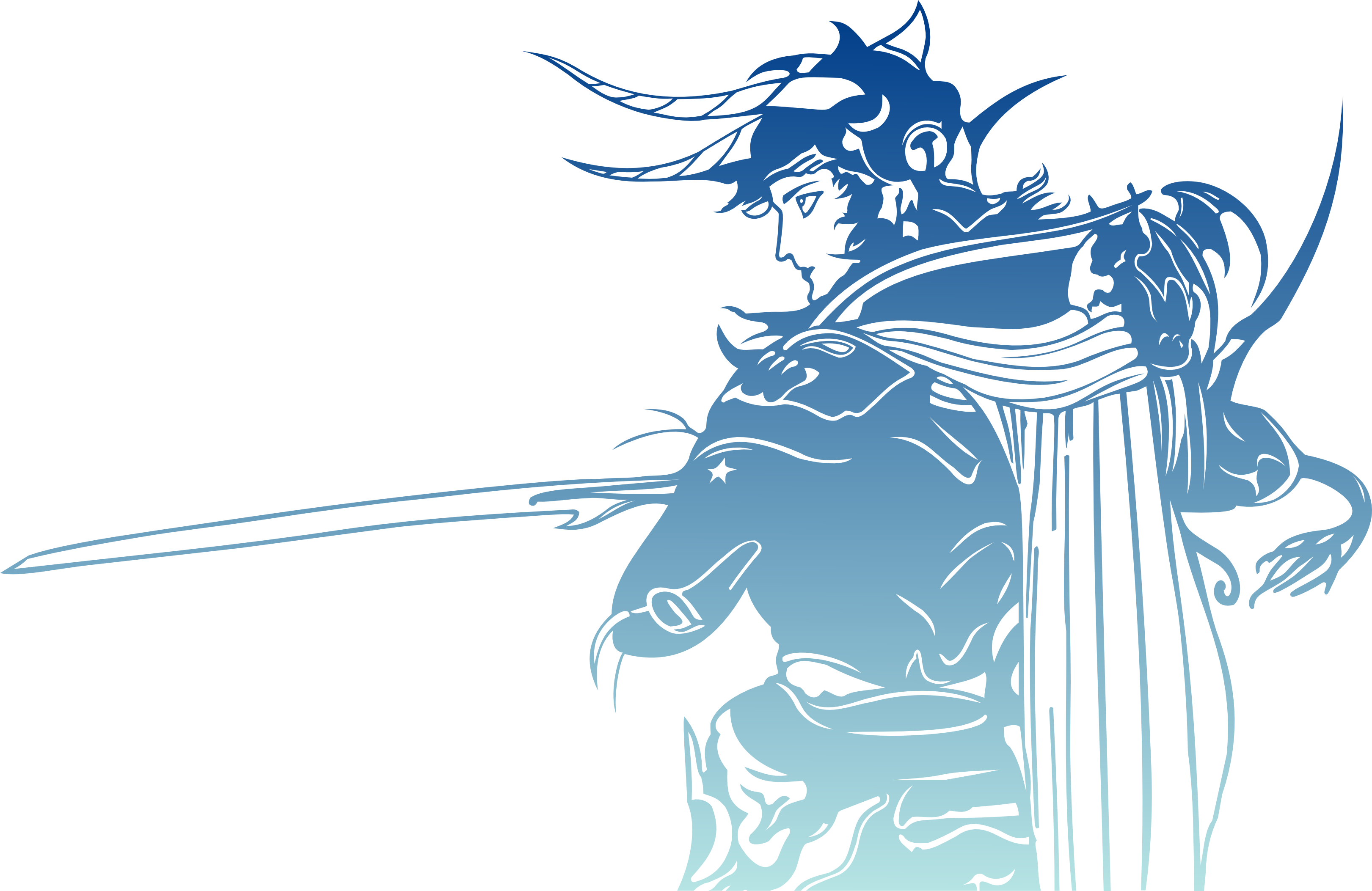 Final Fantasy 1 Logo without words for details.