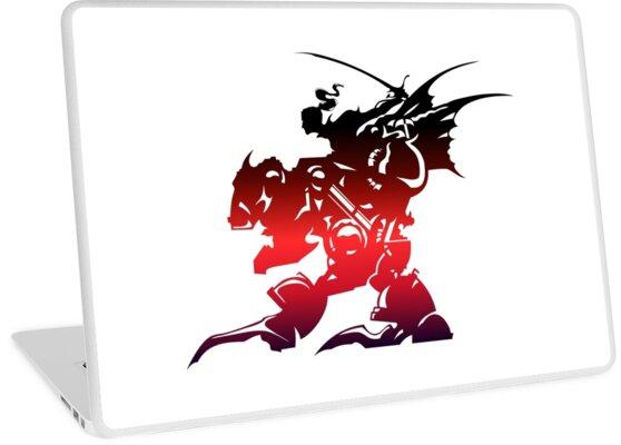 'Final Fantasy 6 logo' Laptop Skin by BondofBlood.
