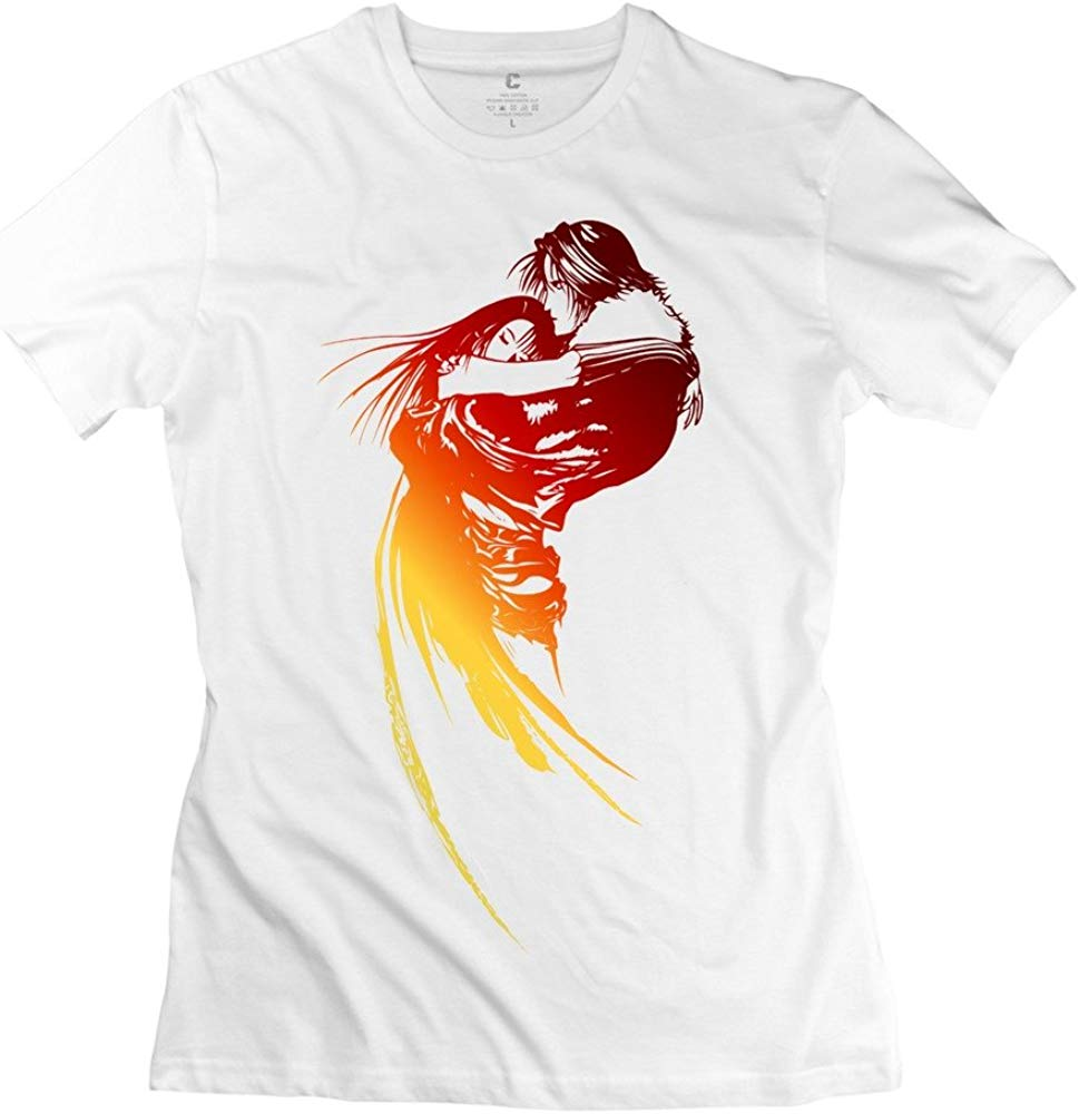 Men\'s Tshirt Final Fantasy VIII Logo White.