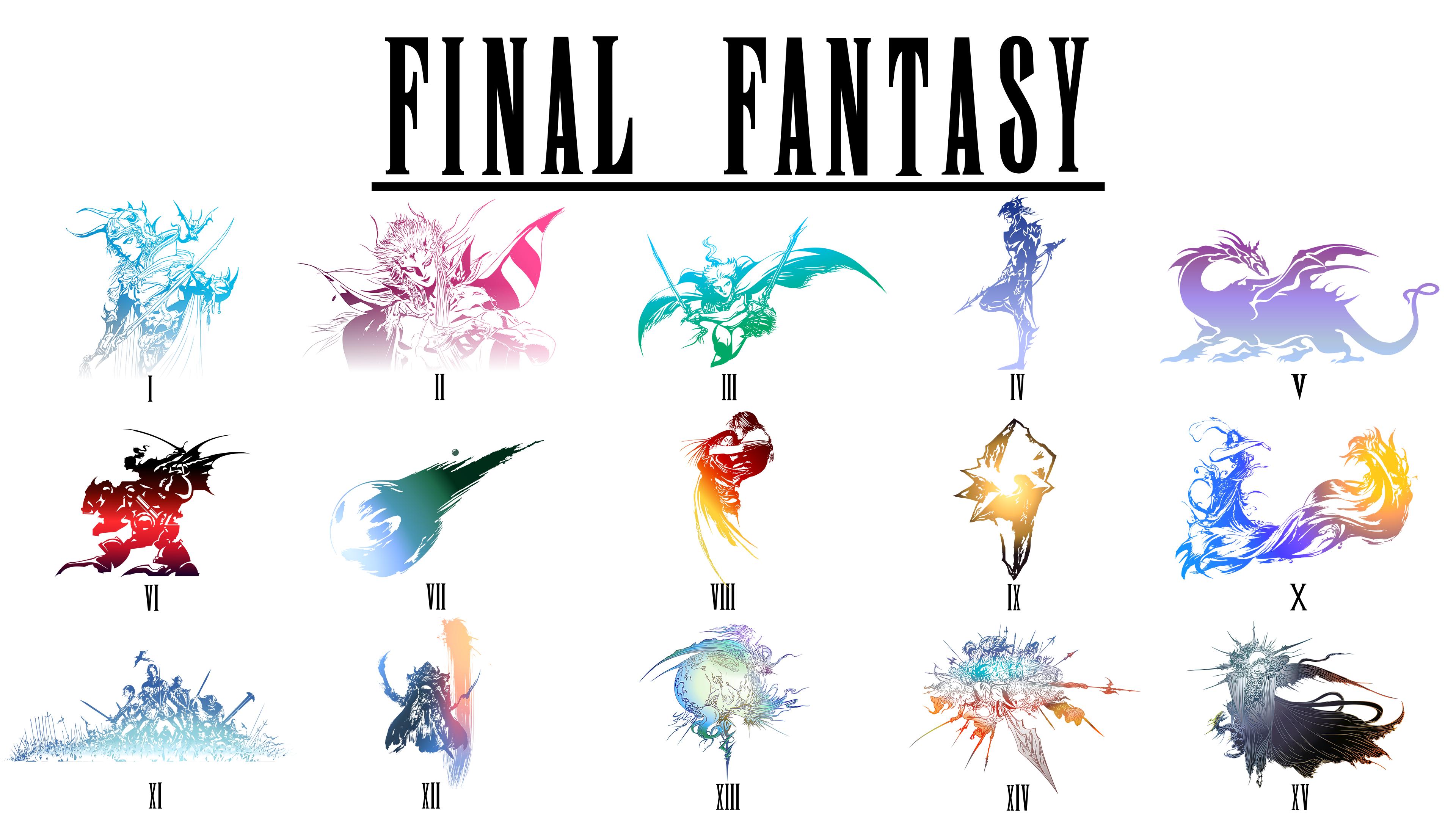 The Grand Final Fantasy Logo Poster : FinalFantasy.