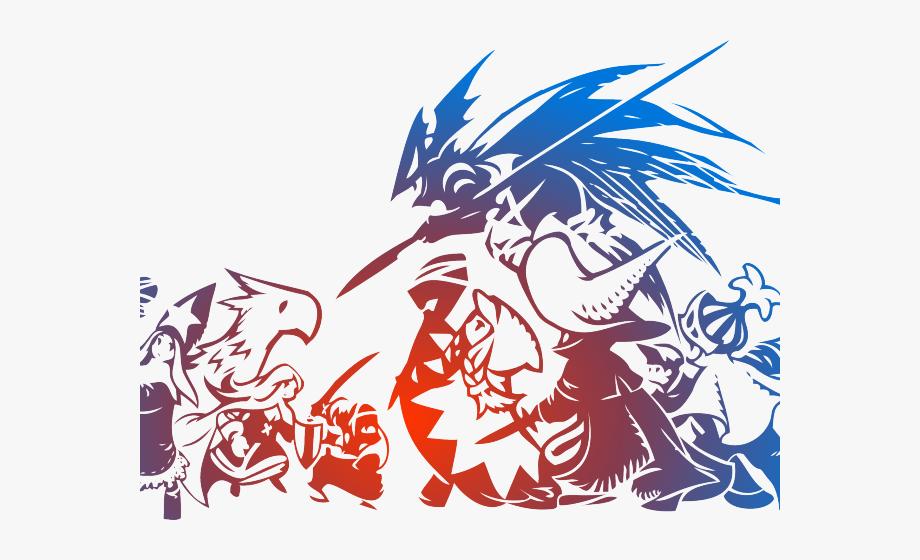 Final Fantasy Clipart Tribal Design.