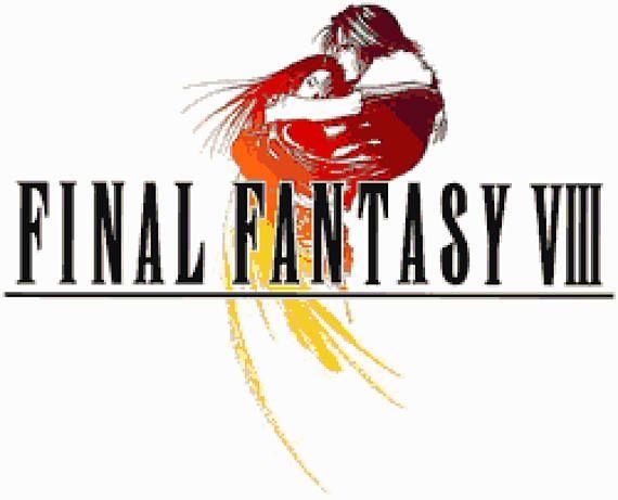 Final Fantasy VIII Logo Cross Stitch Pattern.