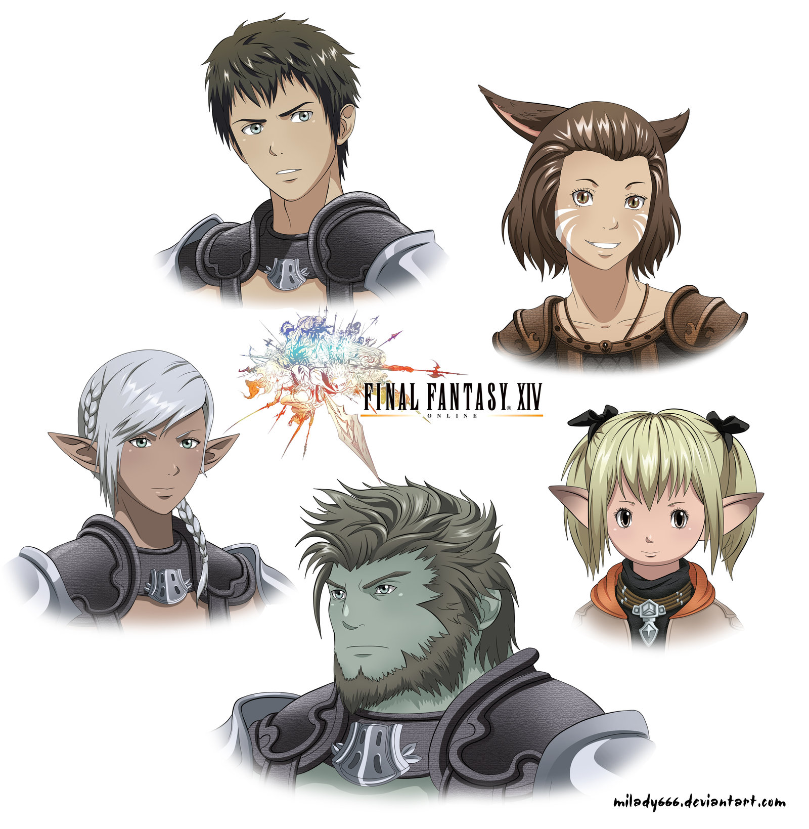 Final Fantasy XIV by Milady666 on DeviantArt.