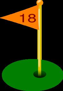 Golf Flag 18th Hole Clip Art at Clker.com.