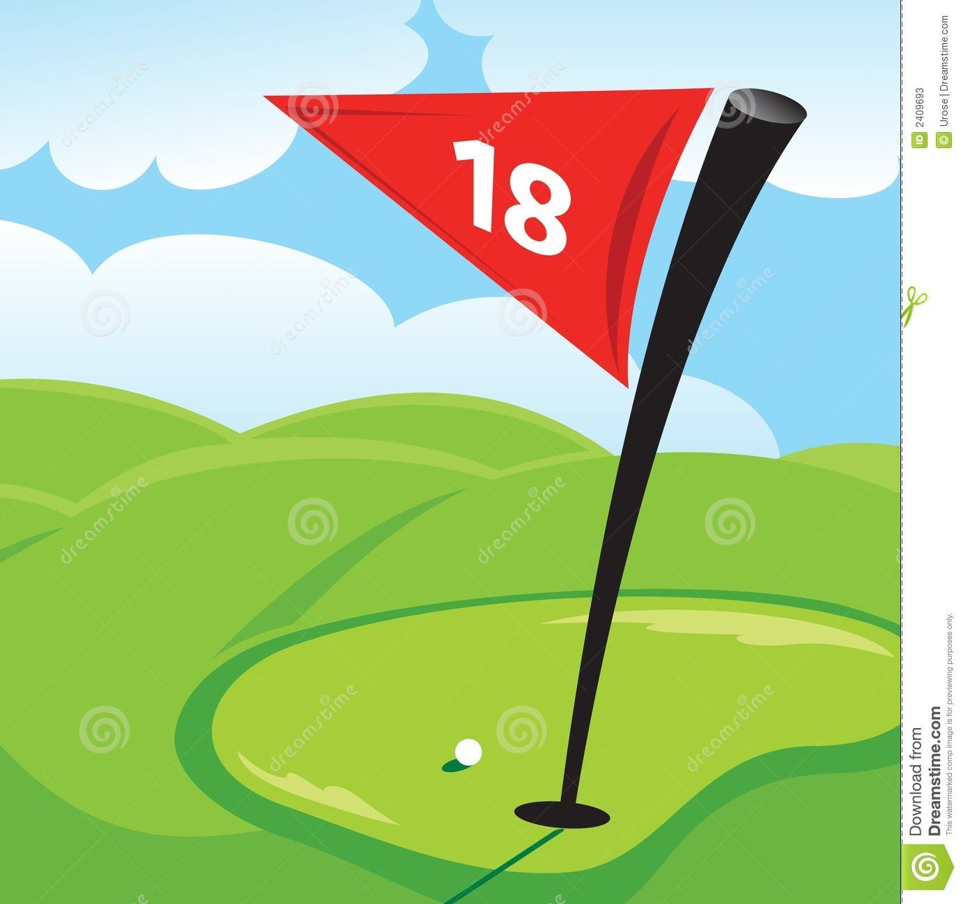 Golf hole clip art.