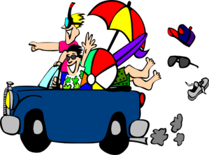 Road Trip Car Clipart.