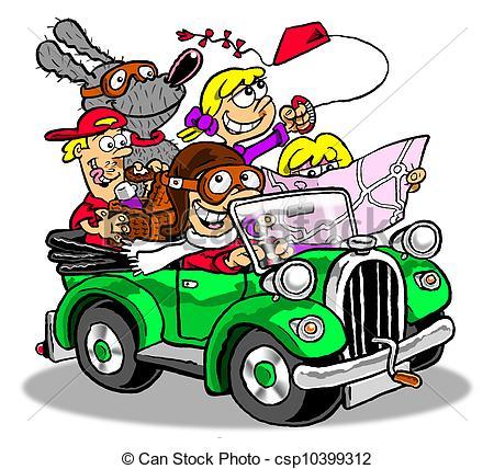Car Trip Clipart.