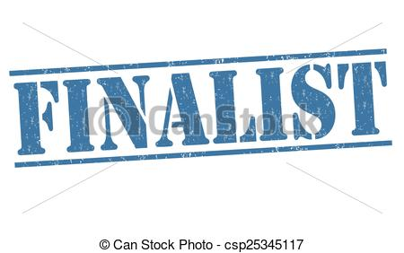 Vector Clip Art of Finalist stamp.
