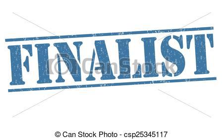 Vector Clip Art of Finalist stamp.