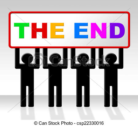 Clipart of The End Represents Final Finale And Conclusion.